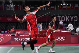 Ganda putra Indonesia Mohammad Ahsan/Hendra Setiawan menuju semifinal