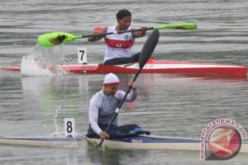 Satu atlet kano Indonesia cedera saat coba lintasan