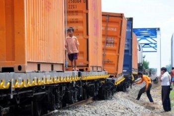 Kecelakaan kereta barang  di Perbaungan Sumut ganggu jadwal KA