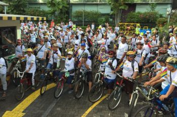 """500 peserta ramaikan """"fun bike"""" LKBN Antara"""