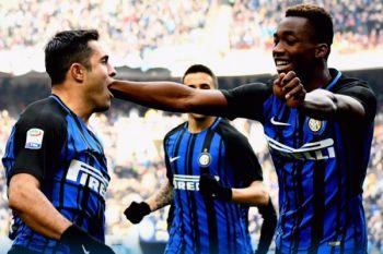 Inter kandaskan Benevento berkat dua sundulan bola mati
