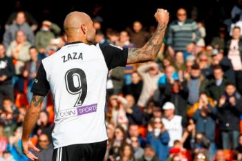 Zaza antar Valencia naik ke posisi tiga La Liga