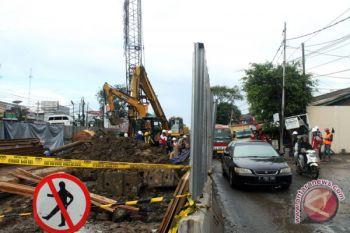 Insiden pipa gas bocor di Cakung