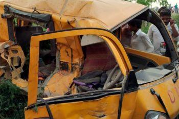 KA tabrak bus sekolah, 13 anak tewas di India Utara