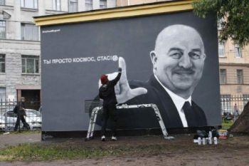Tampil gemilang, mural pelatih Rusia terpampang di Sankt Petersburg