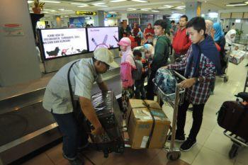 Arus mudik di Bandara Minangkabau masih tinggi pada H+2