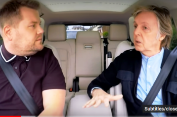 James Corden menangis di Carpool Karaoke bersama Paul McCartney