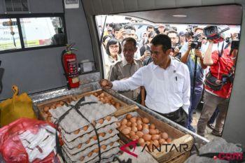 Harga telur ayam di Jakbar turun jadi Rp27 ribu