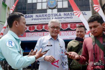 Kakanwil Kemenkumham Lampung jalani pemeriksaan di BNNP
