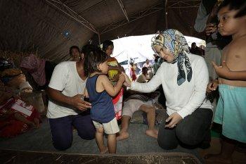 Tika Bisono bicara pentingnya trauma healing bagi korban gempa Lombok
