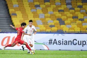 Indonesia tertinggal 0-1 dari Vietnam pada babak pertama