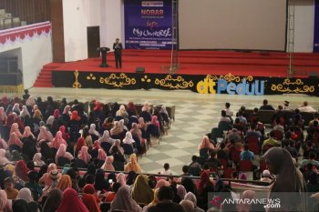 Ribuan peserta ikuti nobar film Islami bersama DT Peduli Aceh