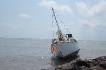 Satu kapal tidak berawak ditemukan di perairan Lampung Timur