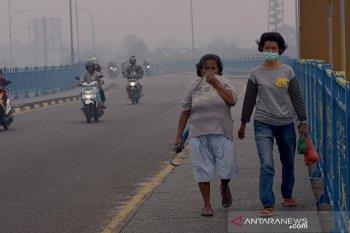 Banyak minum dan makan buah antioksidan tips ampuh warga di kawasan kabut asap