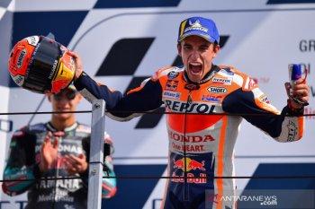 Marquez finis terdepan di GP San Marino setelah duel sengit dengan Quartararo