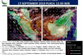Asap karhutla terdeteksi hingga ke Singapura dan Malaysia