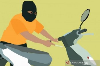 Mantan brigadir polisi pelaku curanmor terekam CCTV