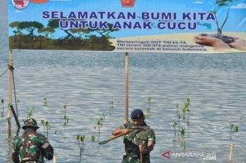 Tanam Mangrove di lokasi bekas tsunami