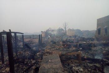 Puluhan rumah di kawasan tua Palembang ludes terbakar