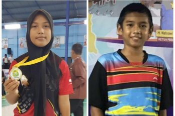 Ini dia dua pebulutangkis cilik Aceh ikut  seleksi PB Djarum
