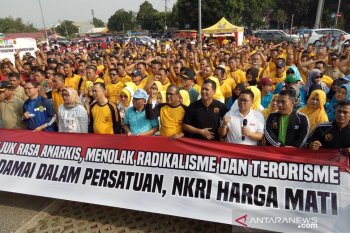 Pelantikan Presiden, warga Bogor deklarasi damai di Stadion Pakansari