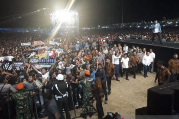 Usai pelantikan, Jokowi nonton Konser Musik untuk Republik