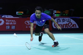 BWF Finals 2019: Anthony Ginting menang mudah atas Chen Long