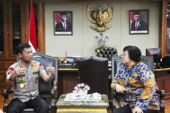 Kapolri temui Menteri LHK bicarakan pembalakan liar hingga kebakaran hutan