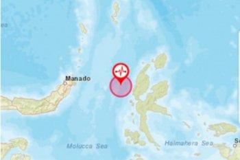Gempa magnitudo 5,9 getarkan barat laut Jailolo-Maluku Utara, tidak berpotensi tsunami