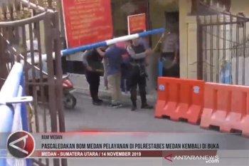 Pascaledakan bom Medan pelayanan di Polrestabes kembali dibuka (video)