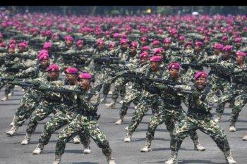 Atraksi HUT 74 Korps Marinir