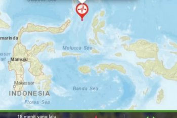 Halmahera Barat kembali diguncang gempa bumi bermagnitudo 5,3