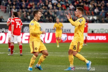Kualifikasi Piala Eropa, trigol Hazard bersaudara bawa kemenangan Belgia