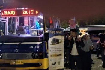 Kapsul bus Koja Trans hadir menyapa warga di Tugu Keris