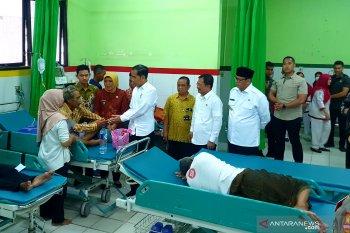 Jokowi inspeksi pemanfaatan BPJS Kesehatan RSUD Cilegon