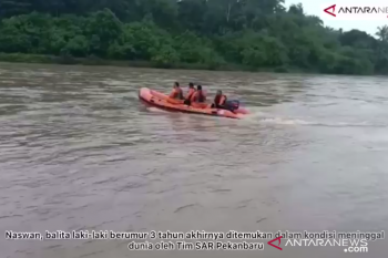 Basarnas temukan balita tenggelam dalam keadaan meninggal