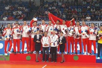 Hiburan bola voli di tengah paceklik medali