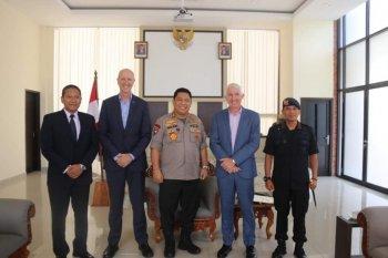 Kunjungi Polda Bali, Polisi Selandia Baru bahas kejahatan geng motor