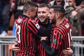 Pemain pengganti Rebic cetak dwigol bantu AC Milan menang 3-2 atas Udinese