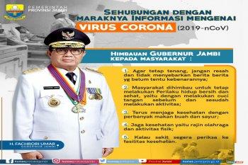 Pemprov Jambi imbau masyarakat tidak panik tanggapi isu virus corona