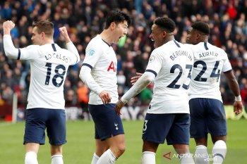 Bola Liga Inggris, Tottenham bangkit di kandang Villa, Arsenal berjaya di Emirates