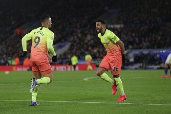 Masuk gantikan Aguero, Jesus amankan 3 poin Man City di markas Leicester