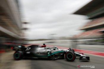Formula 1, Bottas bawa Mercedes tercepat di sepanjang tes pramusim di Barcelona