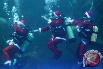 Santa Menari Dalam Air
