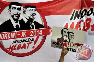 Jokowi-JK naik bajaj ke KPU
