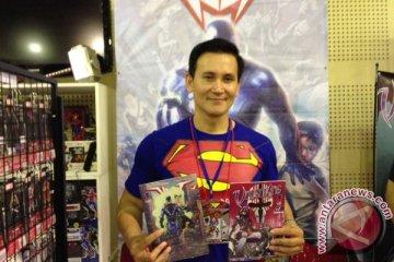 """Bahan kostum Spiderman untuk superhero lokal """"Volt"""""""