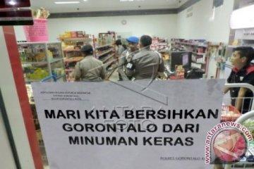Razia Minuman Keras di Gorontalo
