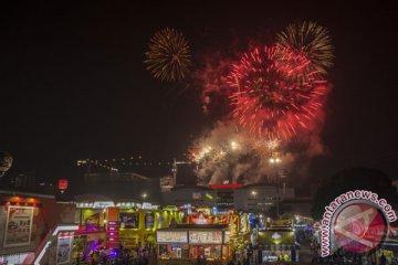 Pesta Kembang Api HUT DKI Jakarta