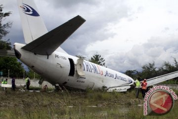 KNKT dalami penyebab pesawat terbang tergelincir