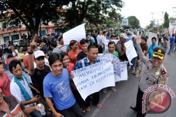 Demo Angkutan Kota Lampung